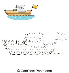 Connect dots to draw yacht educational game - Connect the...