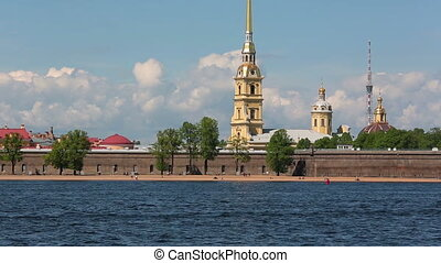Peter and Paul Fortress across the Neva river, St....