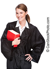 Female lawyer - Full isolated studio picture from a young...