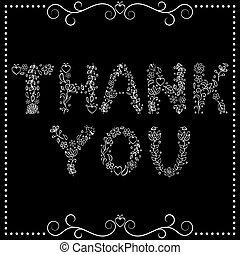'Thank you' text on black background