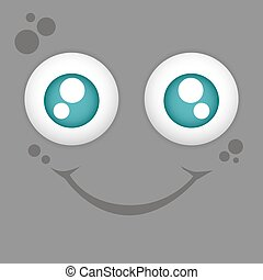 Facial expression - Colored background with a facial...