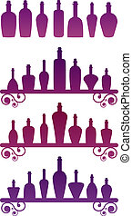 Bottle collection over white. EPS 8, AI, JPEG