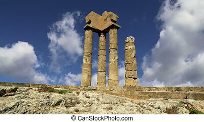 Apollo Temple Rhodes, Greece - Apollo Temple at the...