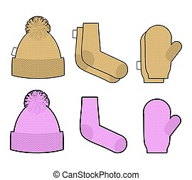 Set clothes for cold weather Winter knitted clothing...