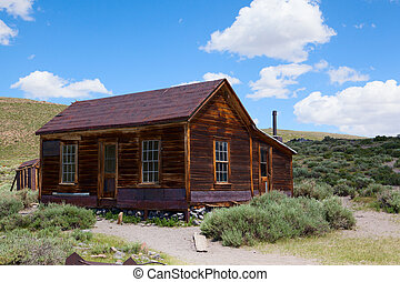 Old building in Bodie, an original ghost town from the late...