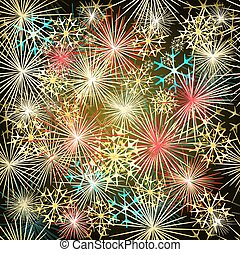 Happy New Year colorful fireworks vectoreps - Happy New Year...