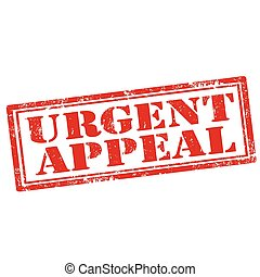 Urgent Appeal - Grunge rubber stamp with text Urgent...