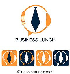 business lunch and web icons set