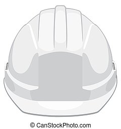 Construction helmet - White construction helmet front view