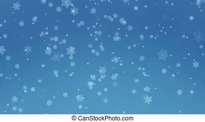Beautiful Snowflakes - winter background.