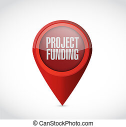 Project Funding pointer sign concept illustration design...