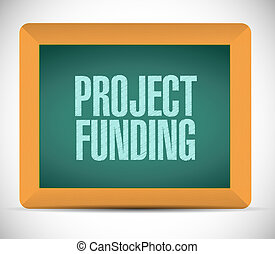 Project Funding board sign concept illustration design...