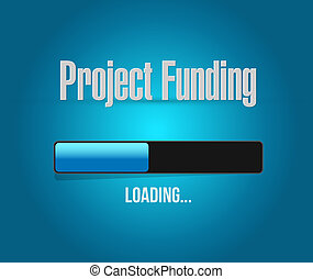 Project Funding search bar sign concept illustration design...