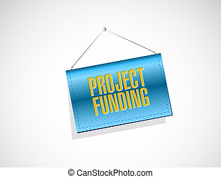 Project Funding banner sign concept illustration design...