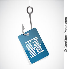 Project Funding hook sign concept illustration design...