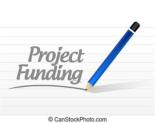 Project Funding message sign concept illustration design...