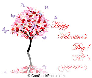 valentine card - Abstract Valentine days background for...