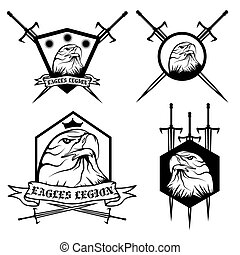 eagle with crown and swords crests collection