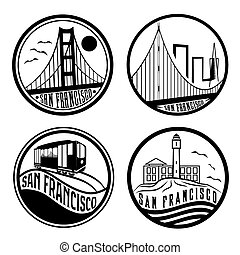 EPS Vectors of Alcatraz Silhouette - Skyline silhouette of ...