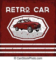 retro car old vintage grunge poster