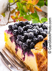 Cheesecake blueberries