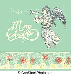 Christmas angel greeting card