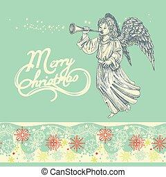 Christmas angel greeting card