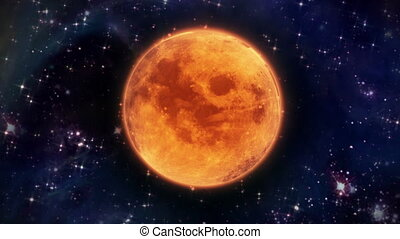 pumpkin Moon of Total Lunar Eclipse - pumpkin orange color...