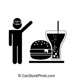 delicious fast food design, vector illustration eps10...