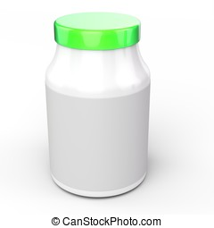 3d  jar with blank  label