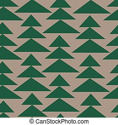 Fir-trees seamless pattern. Christmas background