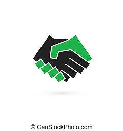 Handshake abstract logo vector design template, business...