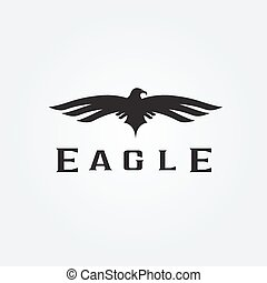 Bird eagle abstract vector design template
