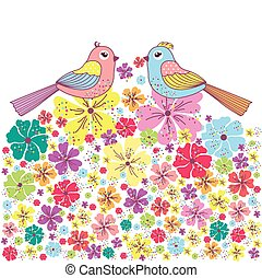 Beautiful card with birds