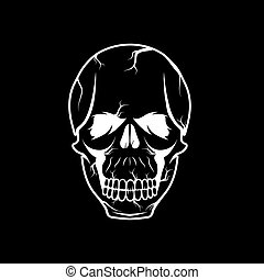 skull vector design template