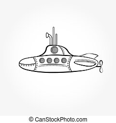 cartoon submarine vector design template