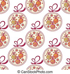 Christmas decorations - Seamless pattern with Christmas...