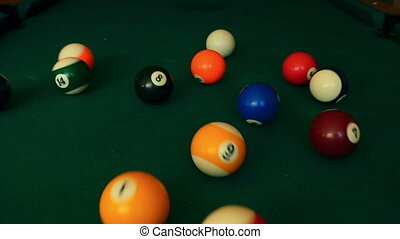Billiard balls - The billiard ball ricocheted in a billiard...