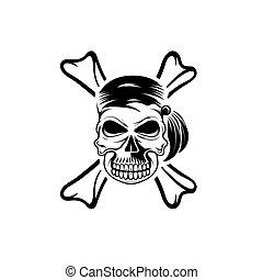 pirate skull with bones