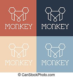 monkey monogram