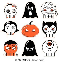 Halloween  icons set 3 including sc