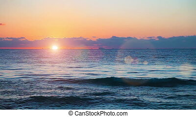 Beautiful Sunrise - Beautiful sunrise on the Caribbean sea...