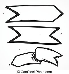 Vector three signs of arms, hand drawn - Vector three signs...