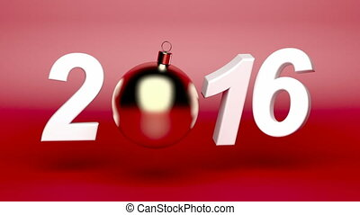 Happy new year 2016 animation with Christmas ball