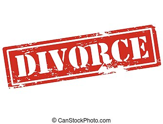 Divorce - Rubber stamp with word divorce inside, vector...