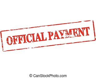 Official payment - Rubber stamp with text official payment...