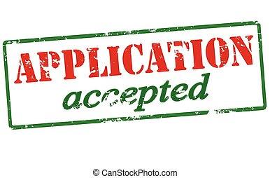 Application accepted - Rubber stamp with text application...