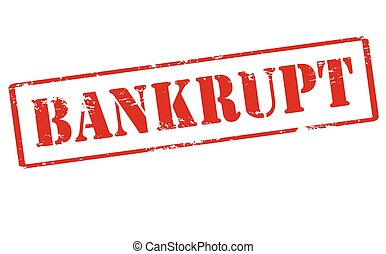 Bankrupt - Rubber stamp with word bankrupt inside, vector...