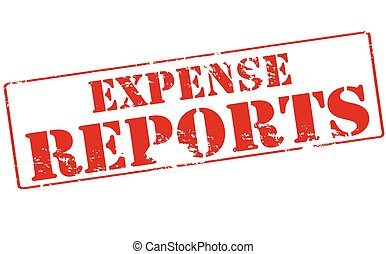 Expense reports - Rubber stamp with text expense reports...