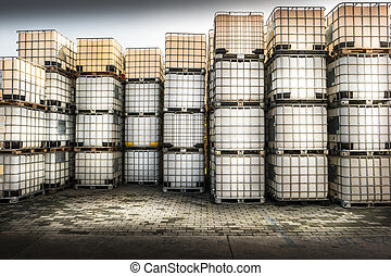 chemical products - containers for chemical products inside...